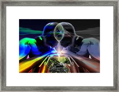 Framed Print featuring the digital art Gemini Dream by Shadowlea Is