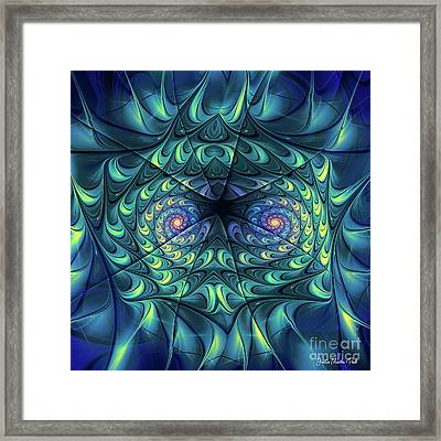 Framed Print featuring the digital art Gemini by Jutta Maria Pusl