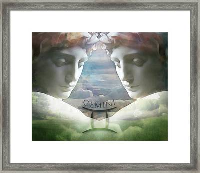 Gemini Twins Framed Print