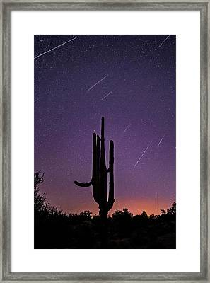 Geminid Meteor Shower #1, 2017 Framed Print