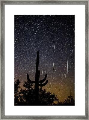 Geminid Meteor Shower #2, 2017 Framed Print