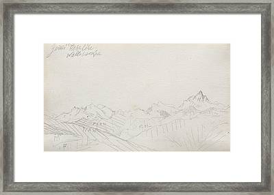 Gemmi Pass, Valais Alps Framed Print by Paul Klee