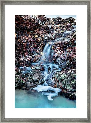 Framed Print featuring the photograph Gemstone Falls by Az Jackson