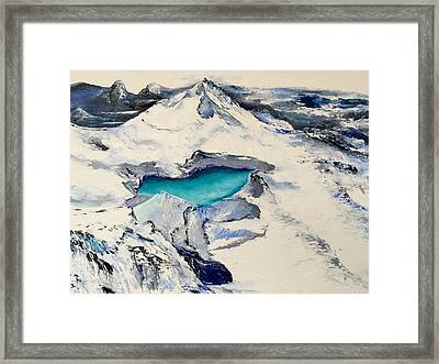 Gemstone Lake Framed Print