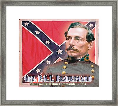 Gen. P.g.t. Beauregard Framed Print by Harry West