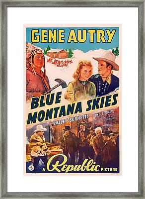 Gene Autry In Blue Montana Skies 1939 Framed Print