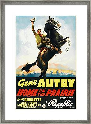 Gene Autry In Home On The Prairie 1939 Framed Print by Mountain Dreams