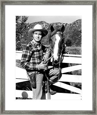 Gene Autry, Undated Framed Print by Everett