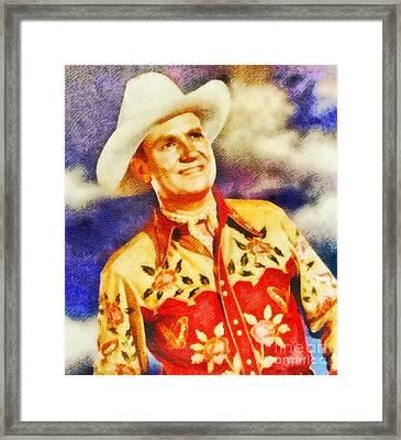 Gene Autry, Vintage Hollywood Legend Framed Print