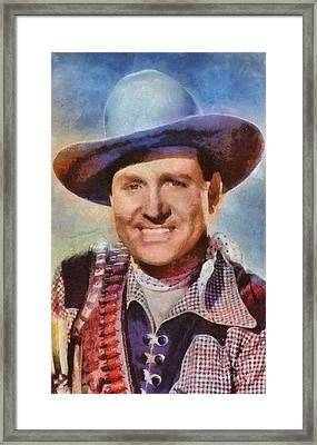 Gene Autry, Vintage Hollywood Western Legend Framed Print