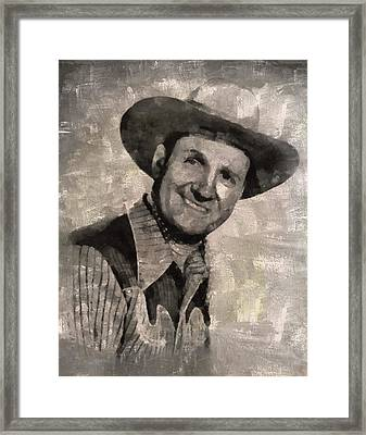 Gene Autry, Western Actor And Singer Framed Print by Mary Bassett
