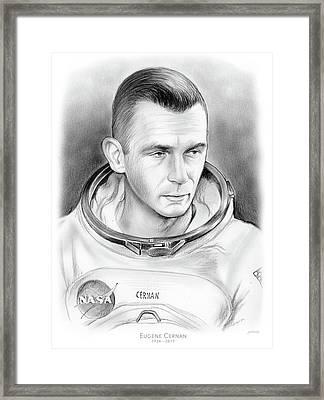 Astronaut Gene Cernan Framed Print by Greg Joens