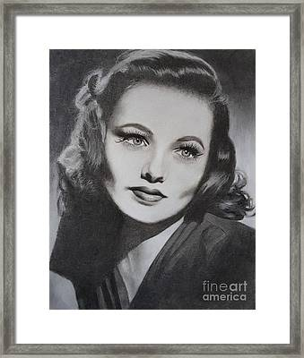 Gene Tierney  Framed Print