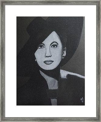 Gene Tierney Framed Print by Nick Young