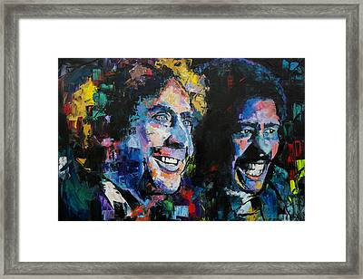 Framed Print featuring the painting Gene Wilder And Richard Pryor by Richard Day