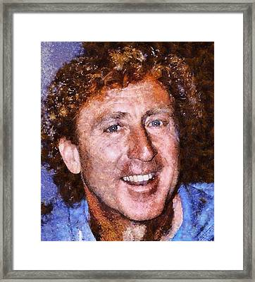 Gene Wilder Hollywood Actor Framed Print by Esoterica Art Agency