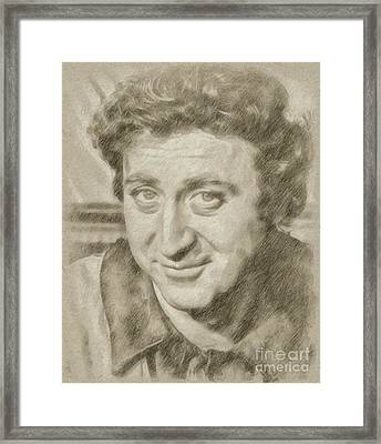 Gene Wilder Hollywood Actor Framed Print by Frank Falcon