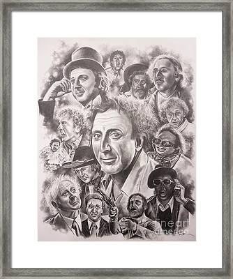 Gene Wilder Framed Print by James Rodgers