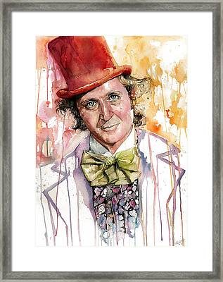 Gene Wilder Framed Print by Michael  Pattison