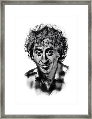 Gene Wilder Sketch Framed Print