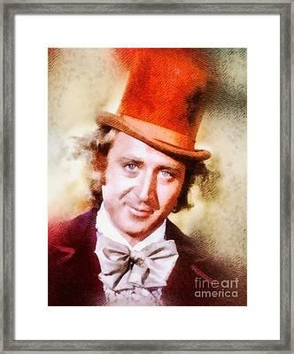 Gene Wilder, Vintage Actor Framed Print