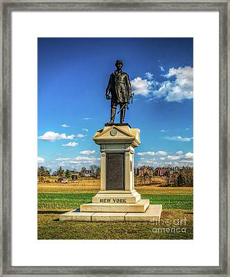 Framed Print featuring the photograph General Abner Doubleday - Gettysburg National Park by Nick Zelinsky
