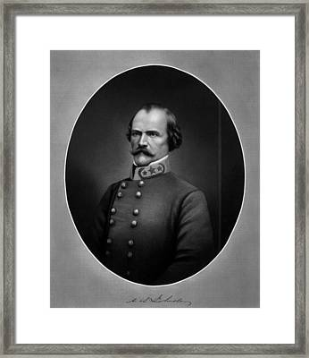 General Albert Sidney Johnston Framed Print by War Is Hell Store