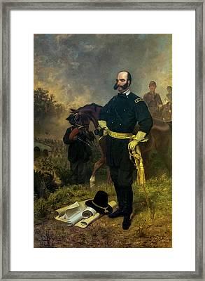 General Ambrose Burnside At Antietam Framed Print