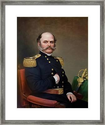 General Ambrose Burnside Framed Print by James Lincoln