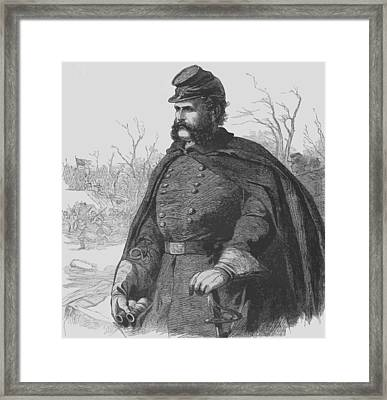 General Ambrose Burnside Framed Print by War Is Hell Store