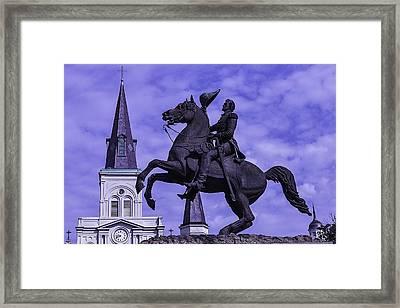 General Andrew Jackson Stature Framed Print