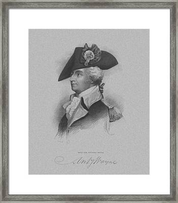 General Anthony Wayne Framed Print by War Is Hell Store
