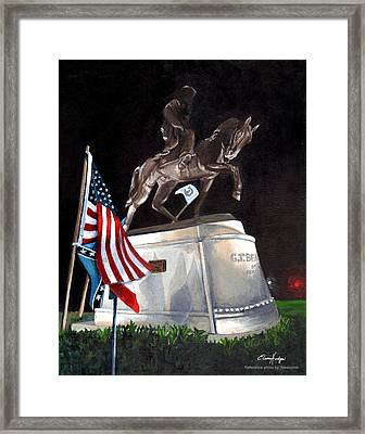 General Beauregard Monument Framed Print