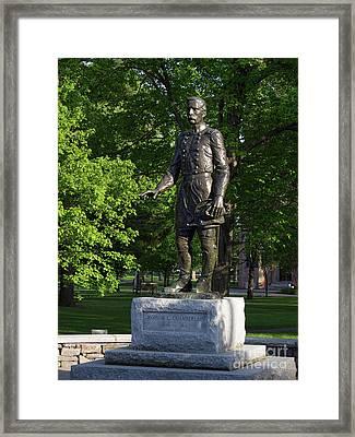 General Chamberlain, Bowdoin College  0035 Framed Print by John Bald