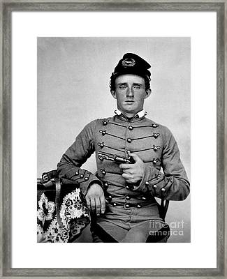 General Custer At West Point Ca 1859 Framed Print by Jon Neidert