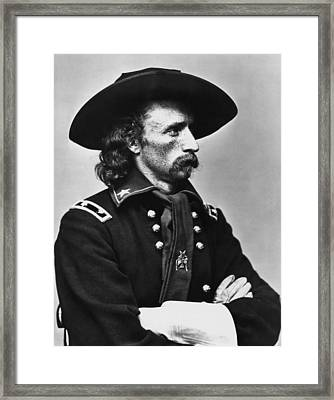 General Custer - Civil War Framed Print by War Is Hell Store