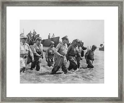 General Douglas Macarthur Returns Framed Print