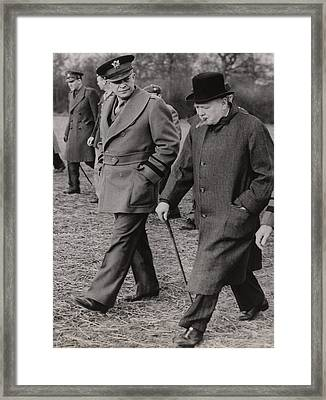 General Dwight Eisenhower, And Prime Framed Print