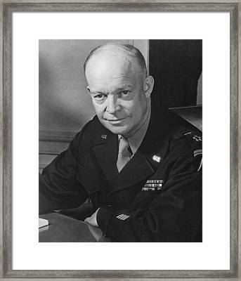 General Dwight Eisenhower Framed Print by War Is Hell Store