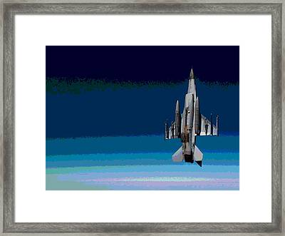 General Dynamics F-16 Fighting Falcon Enhanced Framed Print by L Brown