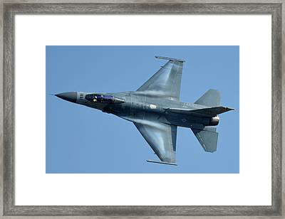 General Dynamics F-16c Block 50d Viper 91-0376 Chino California April 29 2016 Framed Print by Brian Lockett