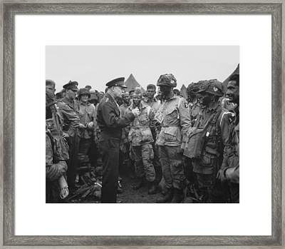 General Eisenhower On D-day  Framed Print