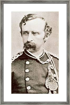 General George A Custer, 1876 Framed Print by David Frances Barry
