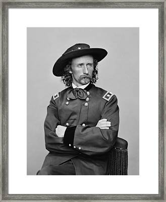 General George Armstrong Custer Framed Print by War Is Hell Store