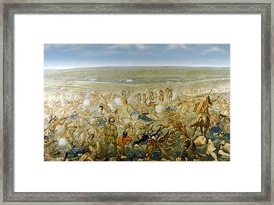 General George Armstrong Custers Last Framed Print by Everett