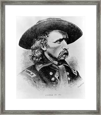General George Custer, 1865 Framed Print