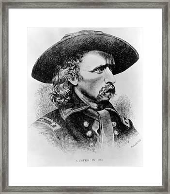 General George Custer, 1865 Framed Print