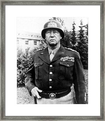 General George Patton, 1940s Framed Print