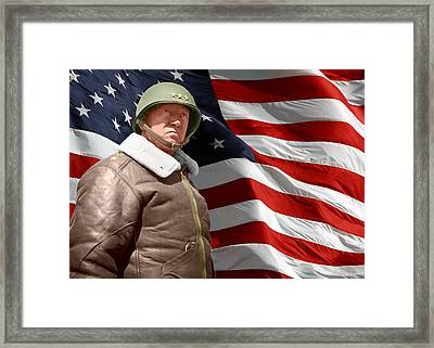 General George S. Patton Old Blood And Guts Framed Print by William Mace