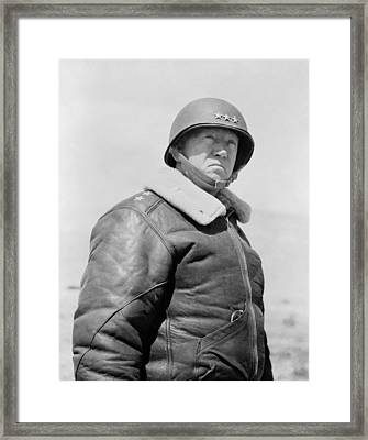 General George S. Patton Framed Print by War Is Hell Store